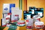 CDs, DVDs, Tintas, Toners, Papel para impresora